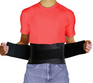 AidBrace Back Brace Support Belt - #1 Breathable Industrial Strength Lumbar Posture Support Belt