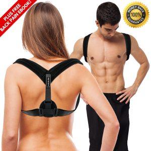 PLYO TEC Premium Back Support Posture Corrector Brace Trainer